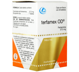 Terfamex of 37.5 mg